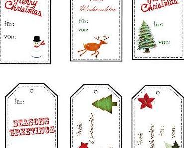 Last-Minute-Christmas-Tags für Euch zum Ausdrucken