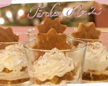 Adventskalender Türchen Nr. 23: Rezept für Honigkuchen-Tiramisu – ein schnelles Dessert für Weihnachten – und eine Weihnachtsliste