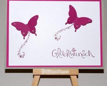 Schmetterlinge zum Geburtstag !