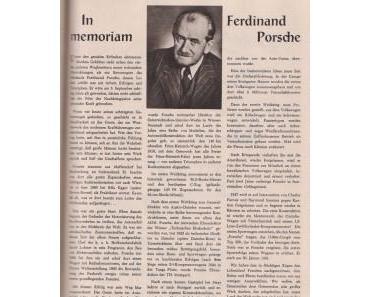 In Memorian Ferdinand Porsche