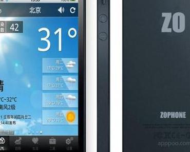 ZoPhone i5 – iPhone 5 Kopie mit Dual-Betriebssystem