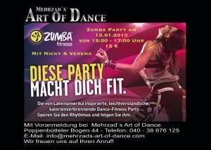 Zumba-Party in Mehrzad's Art of Dance macht fit fürs neue Jahr