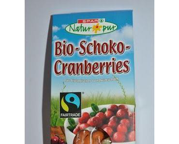 Spar Schoko-Cranberries, Spar Weisse Karamell und JA! Heumilch Noisette