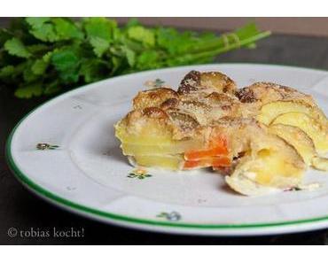 Kartoffel-Karotten Gratin
