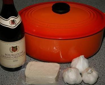 Französisch vegetarisch kochen mit Rotwein – Tofu bourguignon
