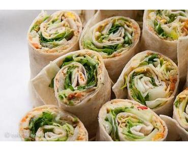 Fingerfood: Vegetarische Wraps