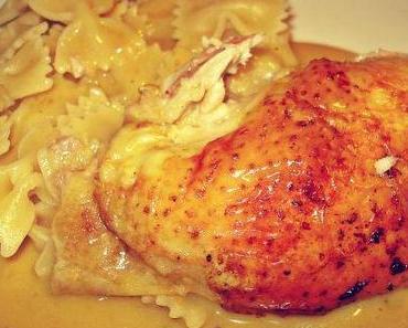 Huhn mit Safran und Zitrone knusprig aus dem Ofen