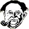 Kurt Tucholsky und die Bücherstapel
