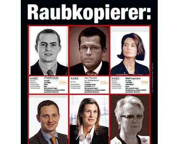 Prominente Raubkopierer ermittelt - Zur Erinnerung für Schavan & Co.