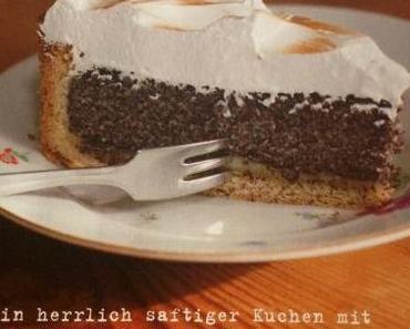 Rezept Mohn-Marzipan-Kuchen mit Baiser
