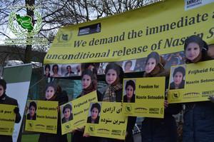 Solidaritätsaktionen für Nasrin Sotoudeh