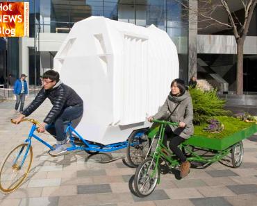 Das kleinste Mobilheim der Welt passt auf ein Fahrrad