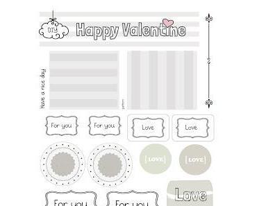 Happy Valentine Gratis Labels zum Download