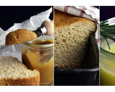 Lemon-, Salz-Karamell- und Mittelmeer-Curd mit Vollkorn-Brioche