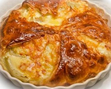 Fenchel-Raclette Gratin im Blätterteigmantel