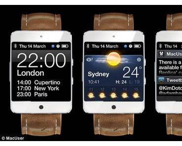 Realistisches Apple iWatch Konzept von Martin Hajek