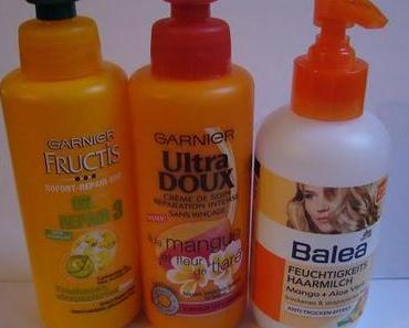 Haarpflege für trockene Haare | Balea Haarmilch & Garnier Sofort Kur