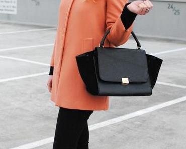 OUTFIT...Trapez Bag & Zara Kurzmantel