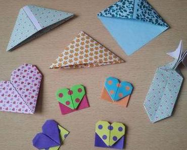 Gebastelt: Origami-Lesezeichen