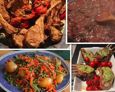 12. Tag: Jamie Oliver 30 Minuten - Frühlingslamm,Gemüseplatte, Minzsauce, Rotweinjus & Schokoladenfondue