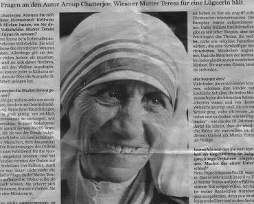 """Licht in das Dunkel um die sog. """"Mutter Teresa"""", der Patin des Leides"""