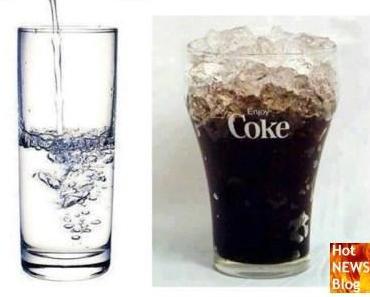 Wasser gegen Cola - ein etwas anderer Vergleich