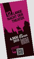 Lange Nacht der Theater in Hannover 2013 zum zwölften Mal 4. Mai