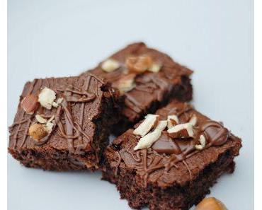 Nutella Karamell Brownies