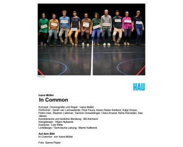 Lasset uns gemeinsam… – In Common: HAU // Ivana Müller