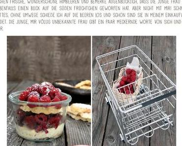 Grab the berries and run { Vanille-Waffeln mit Himbeeren}