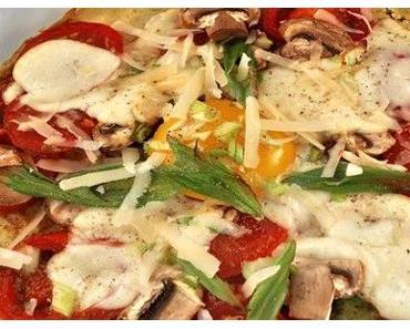 [Veggie] Köstlich saftige Omelette Pizza ohne Mehl
