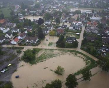Hochwasser Ostschweiz - Widnau überschwemmt
