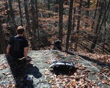Climbing at seven falls
