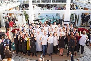 Kochelite versammelt sich auf der MS Europa: Gourmetmeile mit Sternen bei EUROPAs Beste 2013 in Antwerpen