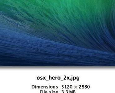 iMac 2013 mit Retina-Display? OS X Mavericks Wallpaper hat 5120×2880 Pixel Auflösung