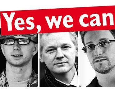 Yes, we can – Krieger brauchen Kontra: Erste Demonstration gegen den Besuch des US-Präsidenten in Berlin