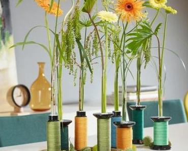 Sommerblume Gerbera: Eleganter Solokünstler in kreativer Vase