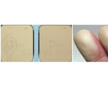 Diorskin Forever Compact Foundation Swatches Peach 023 &  Medium Beige 030