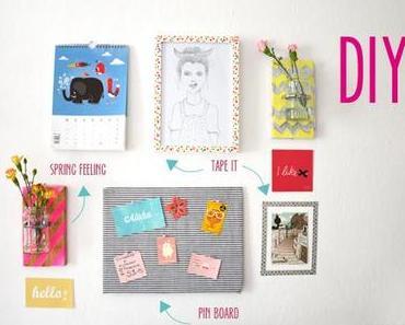DIY WALL // Pinnwand, Blumenvase, Washi-Tape
