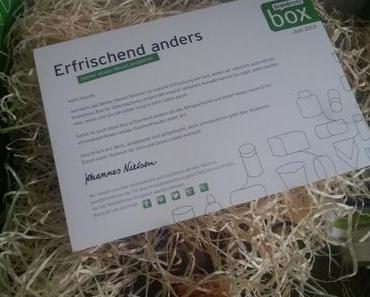 BRANDNOOZ BOX Juni 2013 – Erfrischend anders