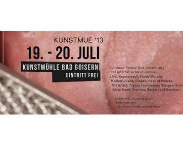 PRESSEMELDUNG: Das Kunstmue Festival 2013 steht in den Startlöchern!