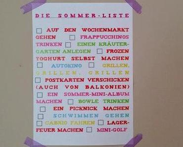 die sommer-liste 2013