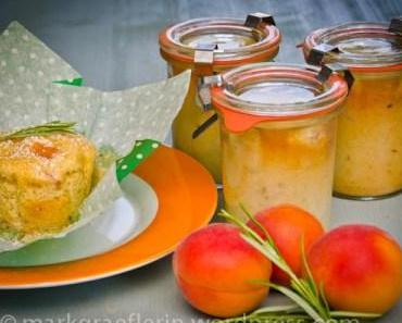 Aprikosen-Rosmarin Mini-Kuchen im Glas (…oder Muffin)