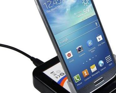 Samsung S4 Dockingstation und Tischladestation mit EXTRA Akkuladefach