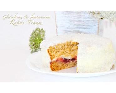 Kokos(Traum)-Torte glutenfrei, laktosefrei, eifrei & fructosearm