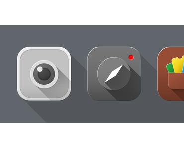 [Konzept] iOS 7 Icons mit Schatten-Effekt