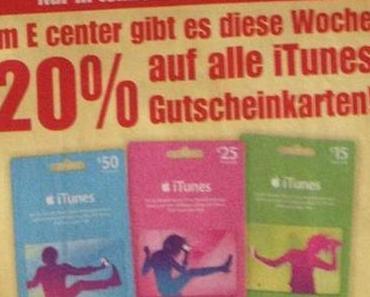 20 % iTunes Rabatt bei EDEKA und REWE – KW 30