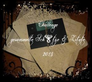 [Challenge+Buchzitate] Gesammelte Schätze im Juli 2013