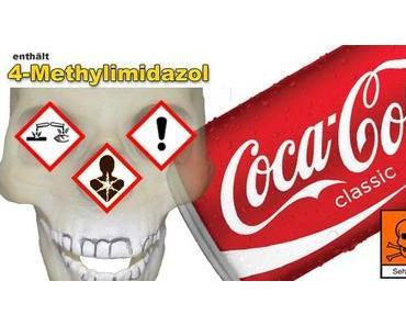 Coca Cola beinhaltet 4-Methylimidazol einen Krebserregenden Farbstoff