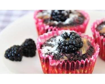 Brombeer-Muffins glutenfrei, eifrei & fructosearm